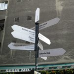 directions pointing to similar streets in the world