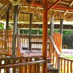 inside the pavillon-looking area