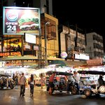 The Night Bazaar is two minutes away by foot