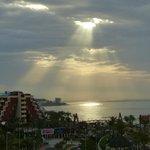 Sunrise through morning clouds