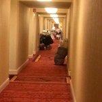 hallway pileup