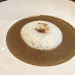 Mushroom soup with white truffle foam - delightfully mushroomy