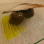 Helado de chocolate con sal y aceite
