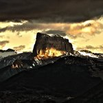 Le mont Aiguille en vue directe depuis le refuge