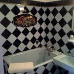 Bathroom with unexpected decoration :)