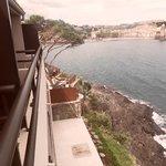 De la terrasse vue sur Collioure