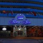夕方のホテル