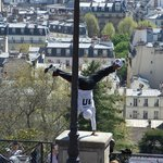 Street theatre at Sacre-Coeur ... if you see him, watch through to the end ...amazing!