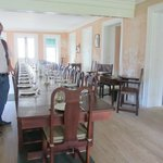 Inside the dining room in George Washington's house