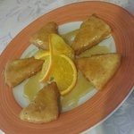 Tipical from lanzarote.  Fried Fresh Cheese With Honey