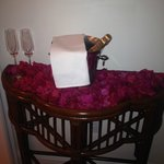 Champagne and flowers in our room on our wedding night!