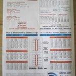 horaires des bus et trains