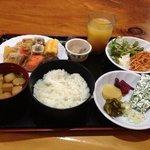 ホテルの朝食です。