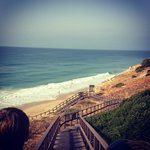 Walk down onto Salema beach