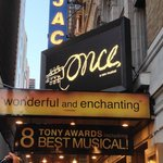 The main entrance of Once: A New Musical in Broadway.