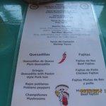 Viva Mexico menu