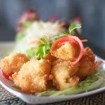 Deep fried king prawns