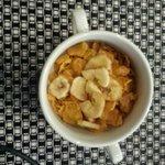 Cornflakes and banana chips