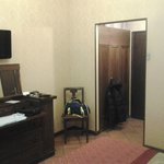 Room 105 - desk, chair and wardrobe