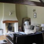 The open plan living area at Dockenbush Cottage...