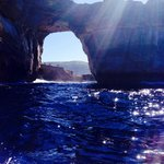 Azure Window view from the boat