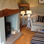 Log burner in living area...