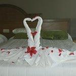 décoration sur lit
