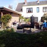 Gartenbereich mit Smoker