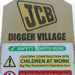 The awesome H&S sign at the JCB area!