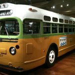 This is the bus on which Rosa Parks was riding when she refused to give up her seat, igniting th