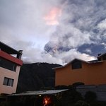 View of Tungurahua from the garden