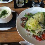 Wedge Salad and Cheese Grits