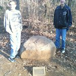 One of the stones on the walking trail. I think this one is from Gettysburg.