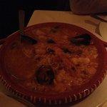 Arroz de mariscos (riso con gamberi e frutti di mare)... Squisito ...