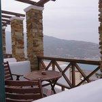 Room 7 terrace view toward Mylopotas beach