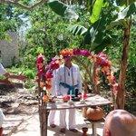 Mayan prayer at Coba