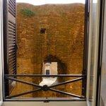 Roman ruin from bathroom window