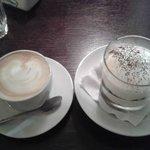 Coffee and tiramisu.