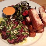 Hangar Steak with Polenta Fries