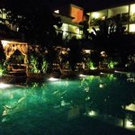 The Pool area at night