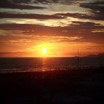 Sonnenuntergang mit Blick vom Balkon Zimmer 22
