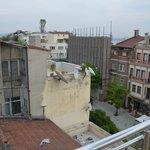 vue de la terasse sur le toit