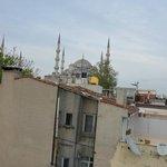 Vue sur la mosquée bleu
