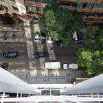 vista da rua Bolivar - frente do hotel