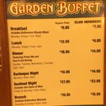 buffet prices (march 2014)