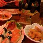Sushi sashimi platter