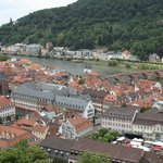 Old town (market square) below Heidelberg's Castle