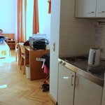 Our first room with a kitchenette - very nice and spacy.