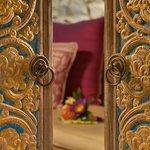 Balinese door at Bidadari sleeping suite