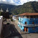 In Baños near a hostel we stayed in.